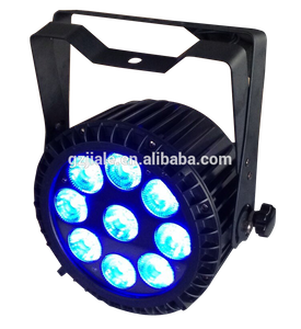 Guangzhou 9x10W RGBWA 5in1 IP65 waterproofbattery powered wireless dmx led par stage Flat light