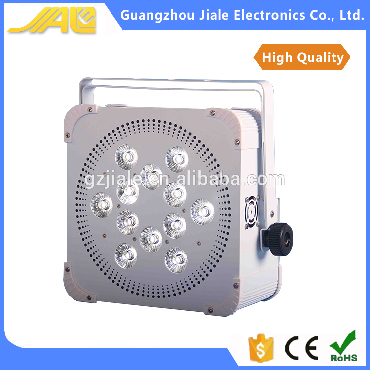 9*18W led dmx flat par light, 6in1 par show lights wireless battery light
