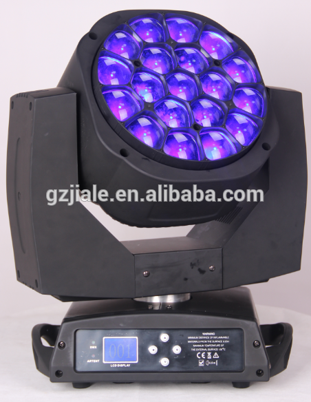 high lumen 19pcs 4in1 led zoom moving head light