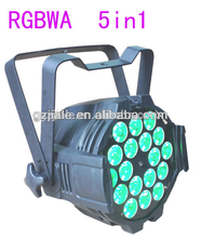 professional 18pcs RGBWA 5in1 stage light